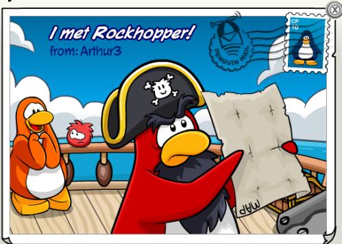 I met Rockhopper!